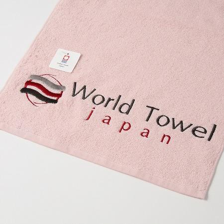 ピンクカラーのスポーツタオル